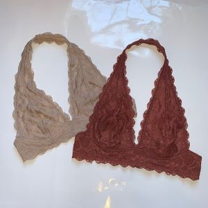 Free People bralette bundle size Small!